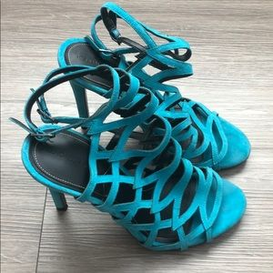 Kendall & Kylie Cut Out Teal Heels